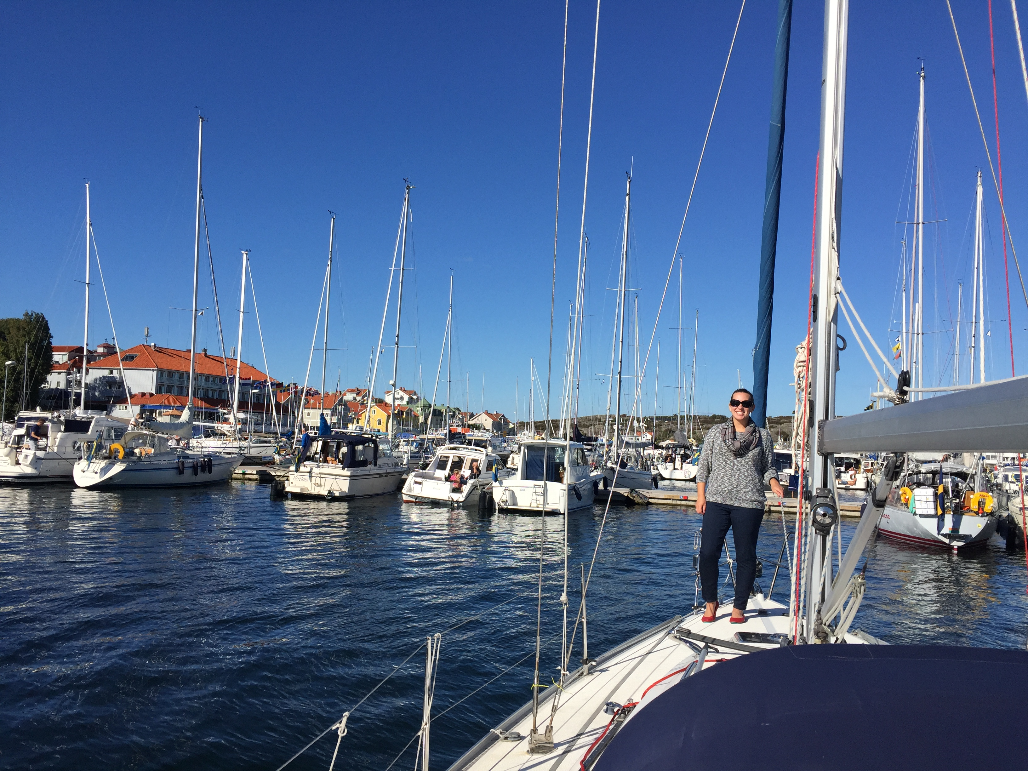 Sailboat on the island of Marstrand, Sweden