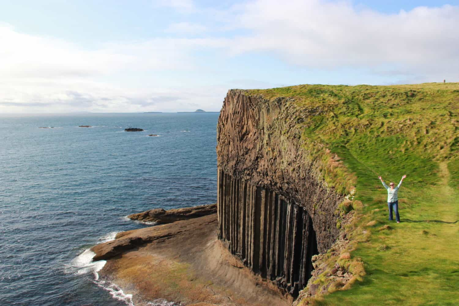 Atop Scotland's Isle of Staffa
