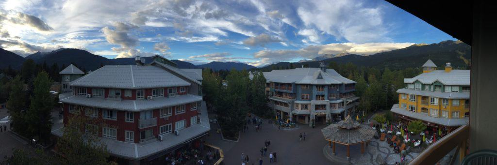 View of Whistler Olympic Village...a great day's itinerary to tack onto your Vancouver trip
