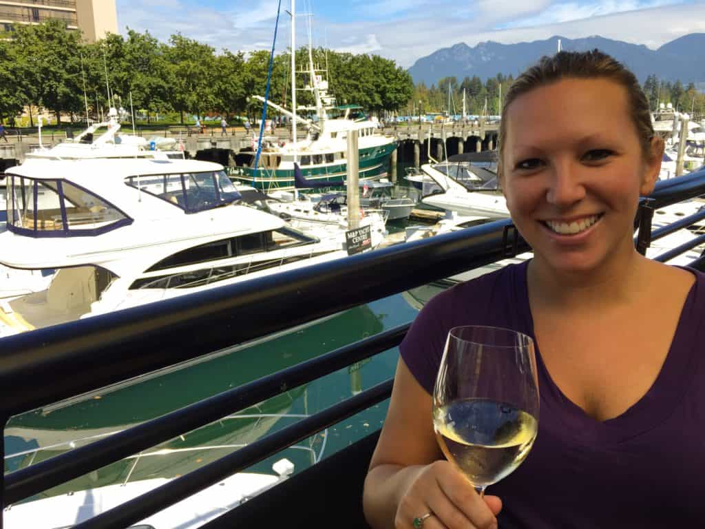 Great food and drink on a gorgeous day at the Seawall - Vancouver in 2 days