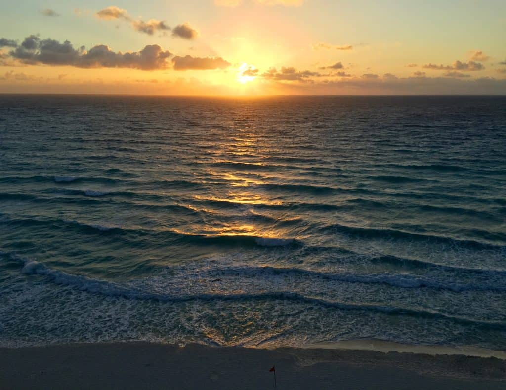 Sunrise in Cancun...I highly recommend staying right on the water