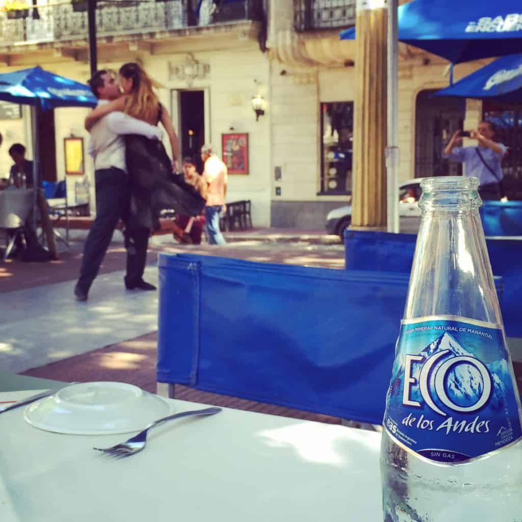 Tango dancers in Plaza San Telmo...what to do with one day in Buenos Aires