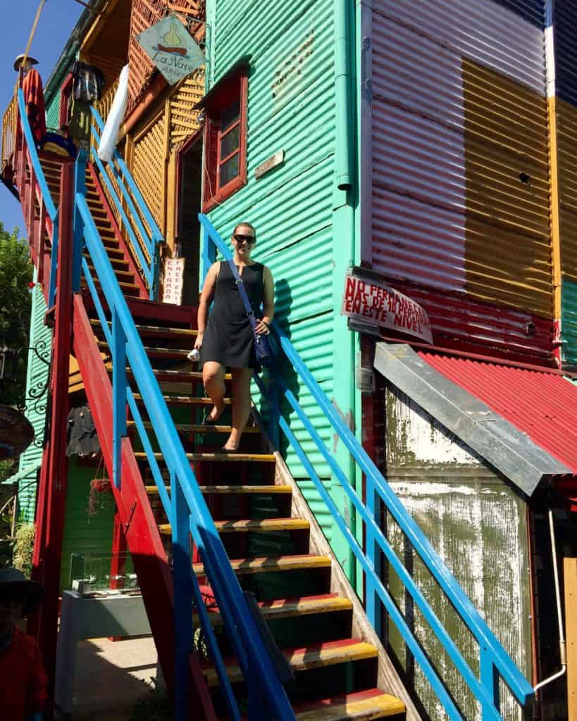 We made a quick stop in La Boca, a brightly-colored, poor, and super touristy neighborhood. Nice pictures, but not my cup of tea.