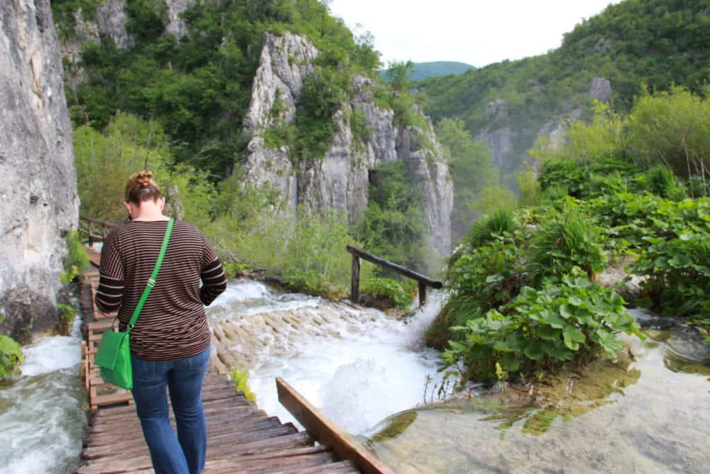 The stunning Plitvice Lakes National Park waterfalls in Croatia