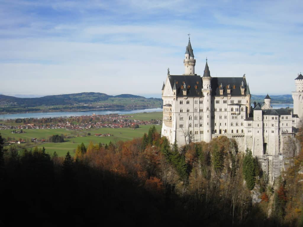 The fairytale towers of Neuschwanstein Castle in Germany