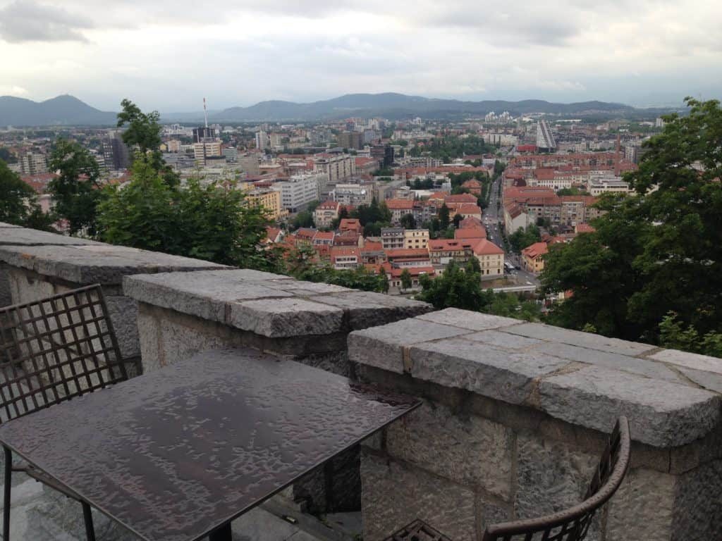 Dinner with a view at Ljubljana Castle...in a medieval archer's tower, to boot!