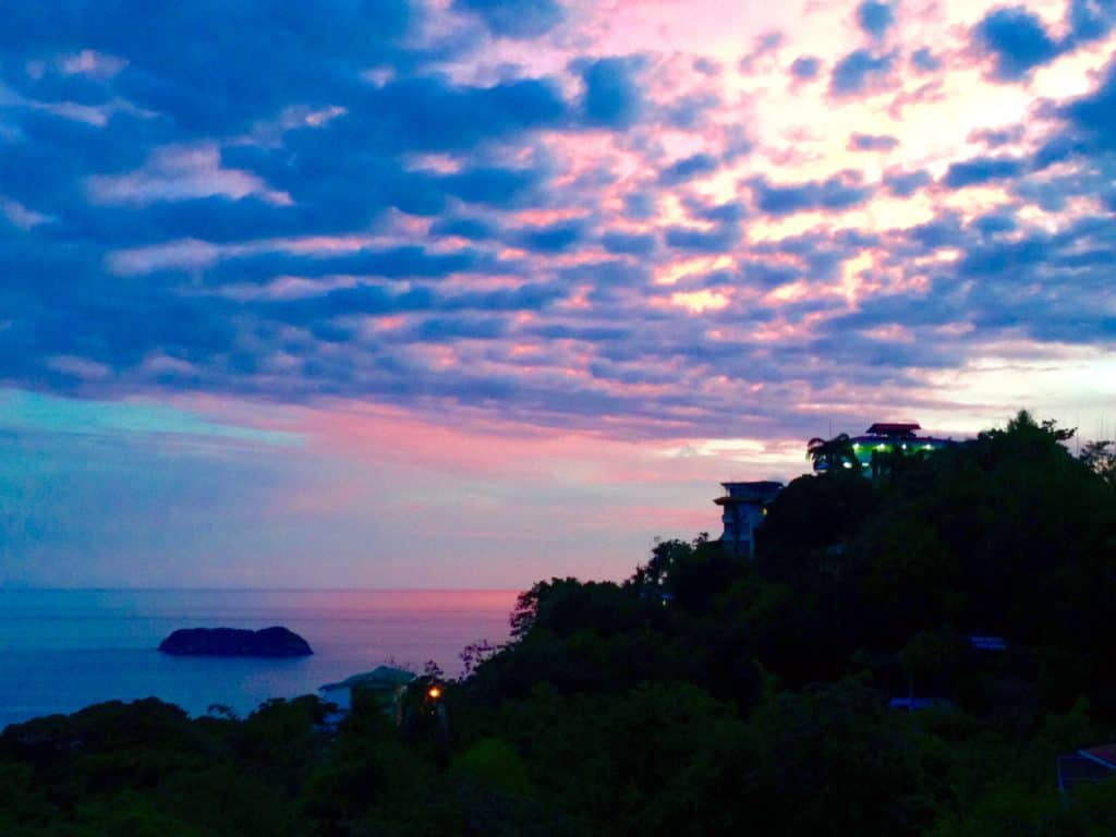 If you're traveling to Manuel Antonio, make sure to have a sunset dinner at Agua Azul--the view is amazing!