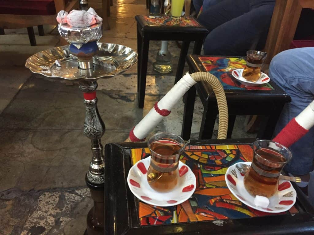 Shisha in an Istanbul bar after having dinner with a local Kurdish family--a unique food tour in Istanbul