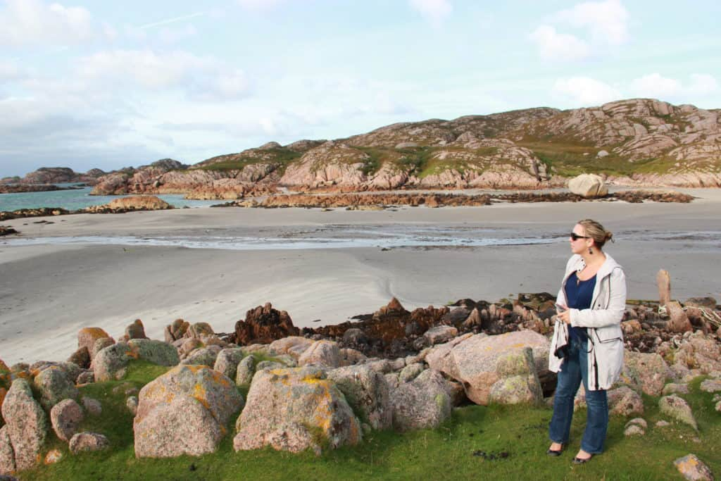 Waiting for the ferry from Mull to Iona | How to visit the Isle of Iona | Scotland's tiny Isle of Iona is stunning, peaceful, & a must-visit | Ferry from Mull, how to plan your visit from the mainland, where to stay on Iona, and what to do #scotland