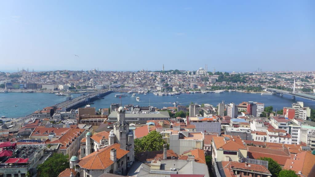 View from Galata Tower...tips for spending 24 hours in Istanbul, how to see everything, where to go, what to skip | itinerary ideas for Istanbul | Istanbul trip planning, itinerary ideas for Istanbul