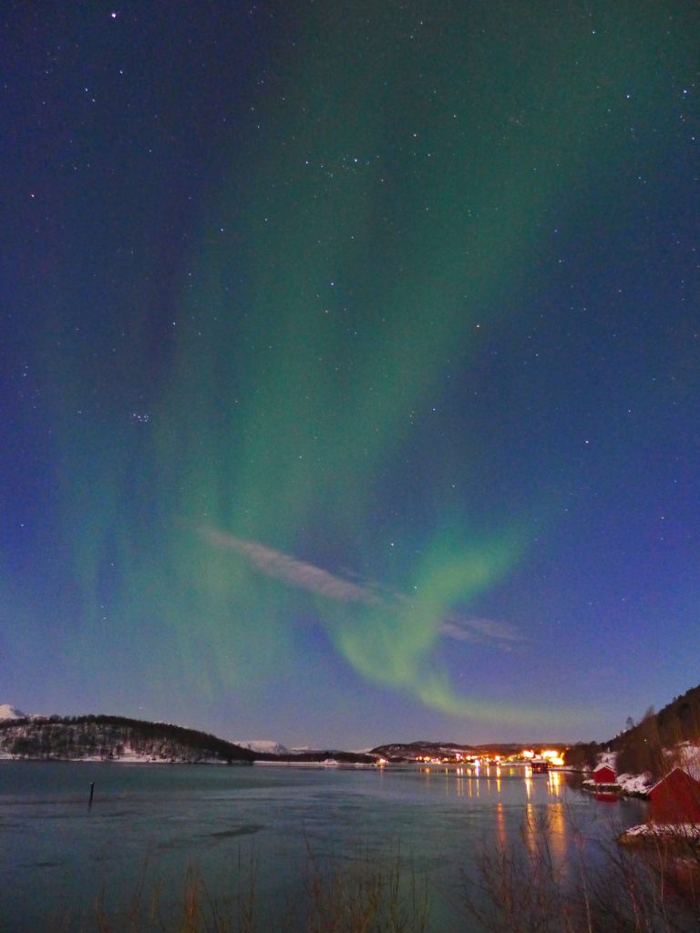 The Northern Lights outside Tromso, Norway, such an amazing sight! All about our Northern Lights tour in Tromso, Norway, how to see the Northern Lights in the winter, tips for planning an Arctic trip and what you need for a Northern Lights tour. Why you should go to Tromso to see the aurora borealis...seeing the Northern Lights inside the Arctic Circle.