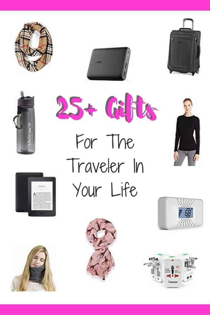 The ultimate gift guide for the traveler in your life...gifts for travelers of all types. All the ammo you need for birthdays, holidays, and any special occasion. Holiday gift guide, birthday gifts for travelers, what to buy a traveler #giftguide #giftsfortravelers