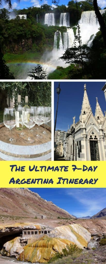 How to plan the ultimate 7-day Argentina itinerary | Argentina is a massive country and planning your trip is going to take some work. But with these tips you can have an amazing trip. Where to go in Argentina, Argentina itinerary advice, where to go in Argentina, planning a trip to Buenos Aires, Mendoza, Argentina's Andes, planning a trip to Iguazu Falls. #argentina #argentinaitinerary #buenosaires #itinerary #iguazufalls #wineries