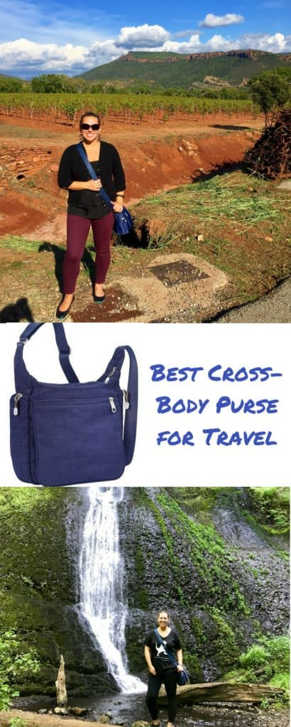 The best cross-body purse for travel, tried & true | eBags Piazza Day Bag, I've taken it on every trip for the past four years & it still looks like new, perfect for any kind of travel | best crossbody travel purse #purse #travel #crossbody