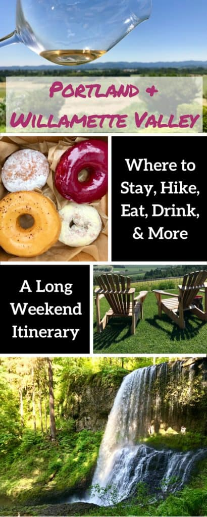 A perfect 3-day Willamette Valley & Portland itinerary | This area is perfect for a long weekend, with waterfalls & hiking, amazing food, beer, & wine, and a vibrant, hip city to explore! What to do in Portland, how to plan a Willamette Valley trip, what wineries to visit in Willamette Valley, waterfall hiking in Oregon, and much more! #oregon #willamette #portland