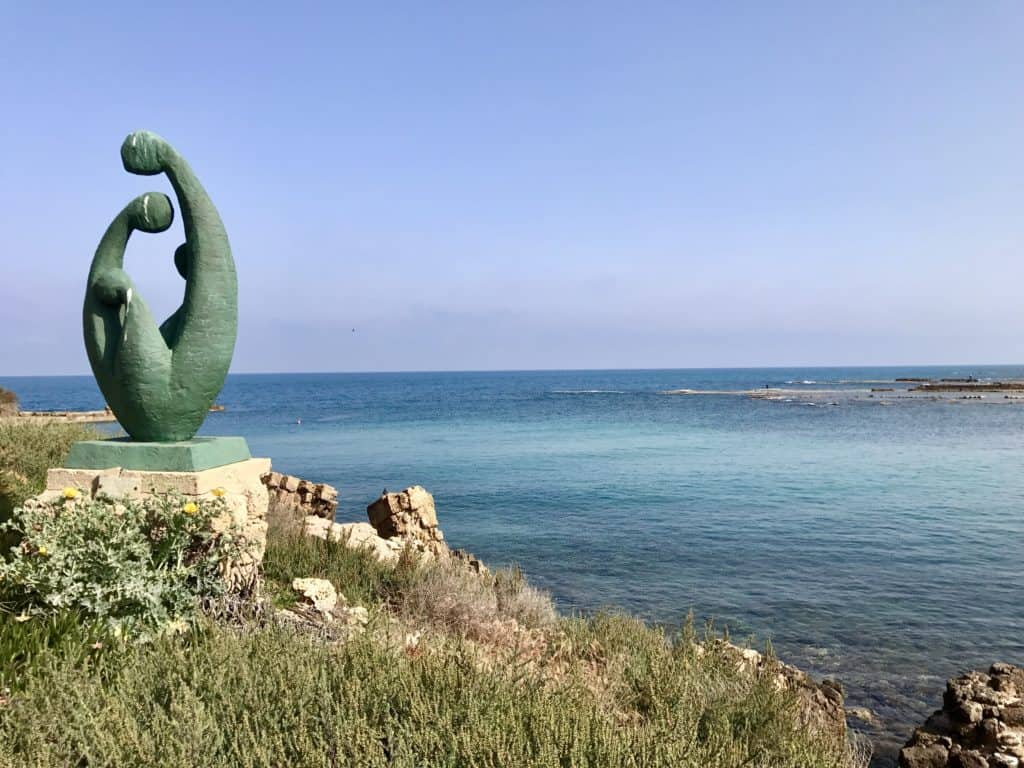 Caesarea Maritima | A day trip from Tel Aviv to northern Israel, covering Caesarea, Tel-Megiddo, the Sea of Galilee, Capernaum, the Mount of Beatitudes, Tiberias, and Akko | what to do in Israel | There's so much to visit in such a small area, you can have a jam-packed day driving from Tel Aviv or Jerusalem but cover so many historic sites and towns | Israel itinerary ideas, Christian history trips, visit the Jesus trail, bible archaeology tours, what to see in Israel, Jerusalem day trips #israel #seaofgalilee #telaviv