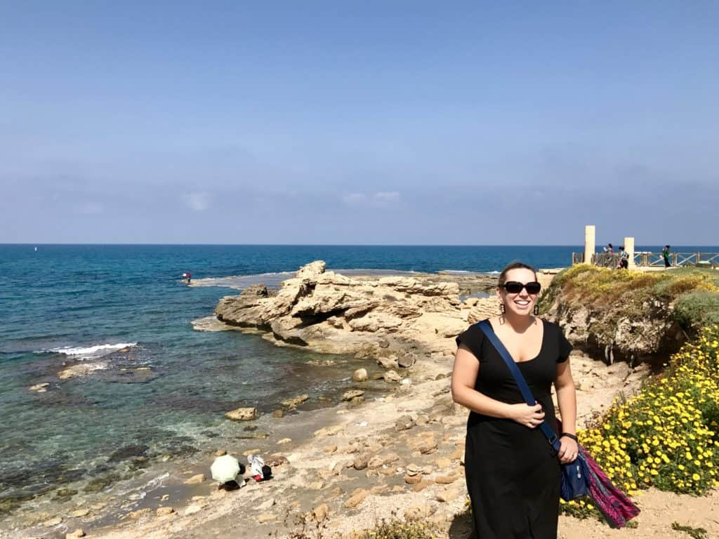Caesarea Maritima | A day trip from Tel Aviv to northern Israel, covering Caesarea, Tel-Megiddo, the Sea of Galilee, Capernaum, the Mount of Beatitudes, Tiberias, and Akko | what to do in Israel | There's so much to visit in such a small area, you can have a jam-packed day driving from Tel Aviv or Jerusalem but cover so many historic sites and towns | Israel itinerary ideas #israel #seaofgalilee #telaviv