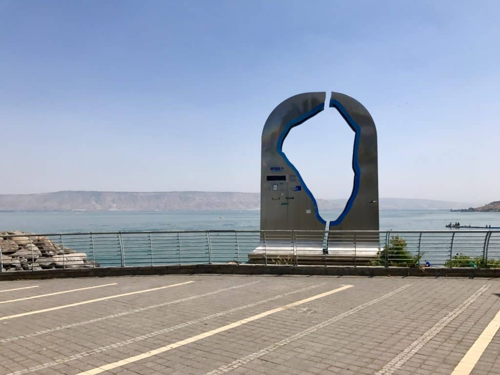 The Sea of Galilee | A day trip from Tel Aviv to northern Israel, covering Caesarea, Tel-Megiddo, the Sea of Galilee, Capernaum, the Mount of Beatitudes, Tiberias, and Akko | what to do in Israel | There's so much to visit in such a small area, you can have a jam-packed day driving from Tel Aviv or Jerusalem but cover so many historic sites and towns | Israel itinerary ideas, Christian history trips, visit the Jesus trail, bible archaeology tours, what to see in Israel, Jerusalem day trips #israel #seaofgalilee #telaviv