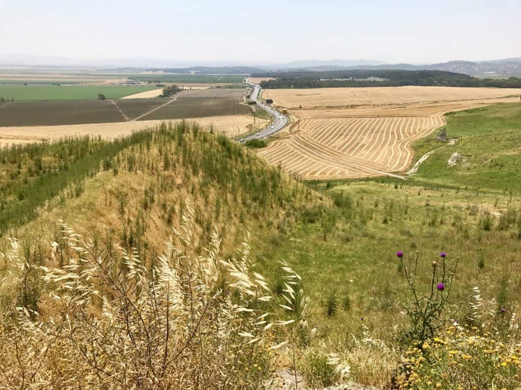 The Valley of Jezreel, from Tel Megiddo | northern Israel day trip from Tel Aviv