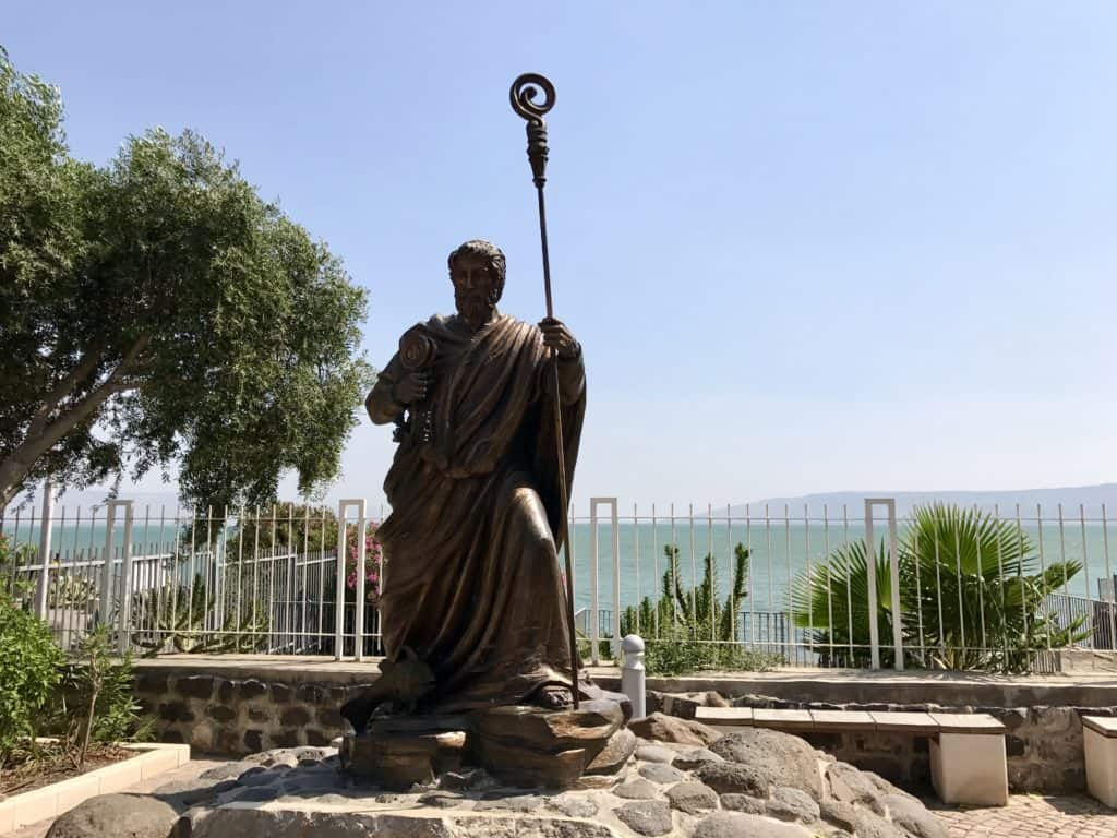 Capernaum | A day trip from Tel Aviv to northern Israel, covering Caesarea, Tel-Megiddo, the Sea of Galilee, Capernaum, the Mount of Beatitudes, Tiberias, and Akko | what to do in Israel | There's so much to visit in such a small area, you can have a jam-packed day driving from Tel Aviv or Jerusalem but cover so many historic sites and towns | Israel itinerary ideas, Christian history trips, visit the Jesus trail, bible archaeology tours, what to see in Israel, Jerusalem day trips #israel #seaofgalilee #telaviv