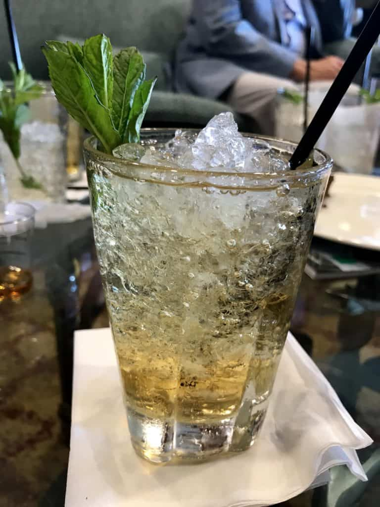 A mint julep at Churchill Downs on Kentucky Derby week