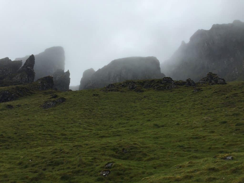 QUIRAING, ISLE OF SKYE | The Quiraing is one of Scotland's most famous & gorgeous hikes. Located on the Isle of Skye, here are pics to inspire your visit & tips for planning your hike. What to do on Isle of Skye, Quiraing hiking, hiking on Skye, Scotland hikes. #quiraing #isleofskye #scotland #hiking