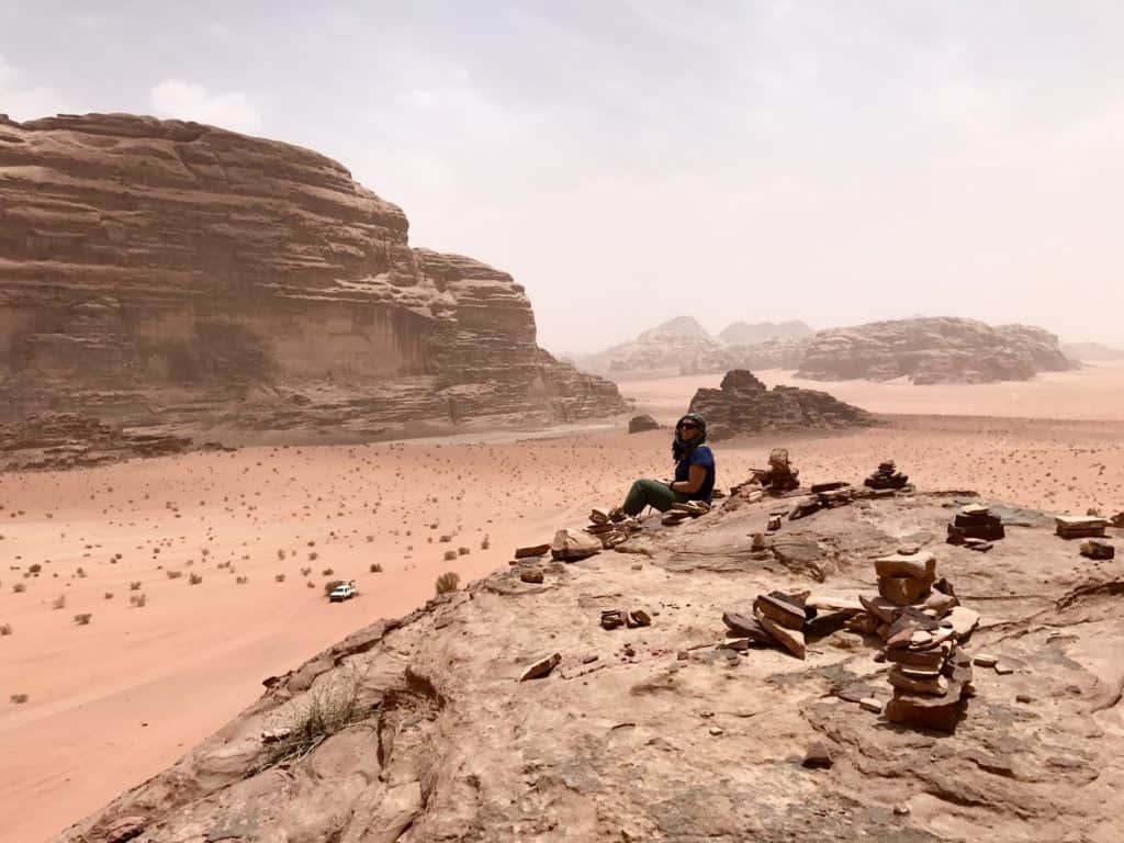 WADI RUM, JORDAN | A jeep tour, hiking, and camping in otherworldly Wadi Rum, tips for what to do in Wadi Rum desert, which jeep tour to take, and how to camp with Bedouins. #wadirum #jordan #desert