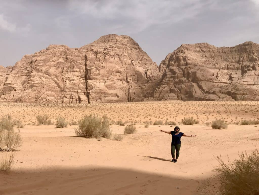 Obsessed with Wadi Rum's vast open spaces!