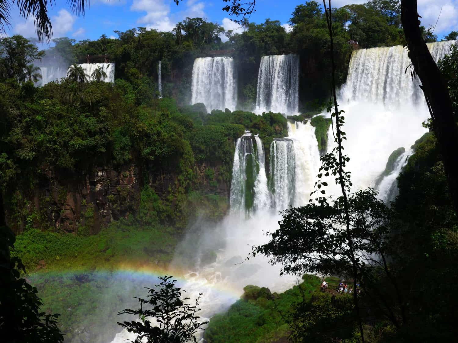 Iguazu falls and rainbows
