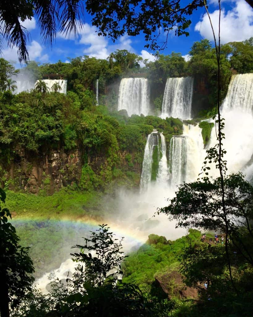 Gorgeous Iguazu Falls and its many mist rainbows | How to plan the ultimate 7-day Argentina itinerary | how to visit Iguazu Falls | With these tips you can have an amazing adventure. Where to go in Argentina, Argentina itinerary advice, where to go in Argentina, planning a trip to Buenos Aires, Mendoza, Argentina's Andes, planning a trip to Iguazu Falls. #argentina #iguazufalls