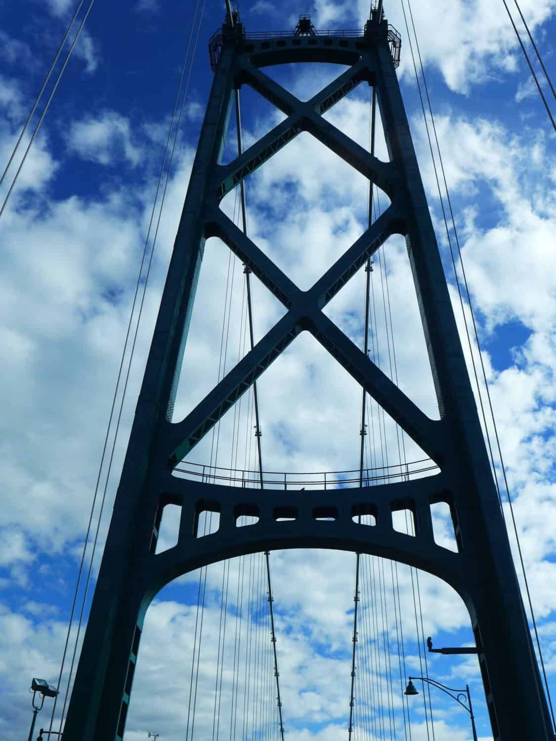 Driving across the Lion's Gate Bridge on a gorgeous day