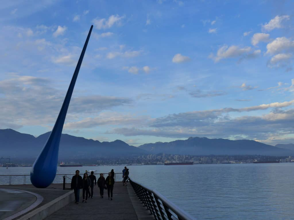 Raindrop on the Seawall...make time for this walk at sunset on your two-day Vancouver itinerary