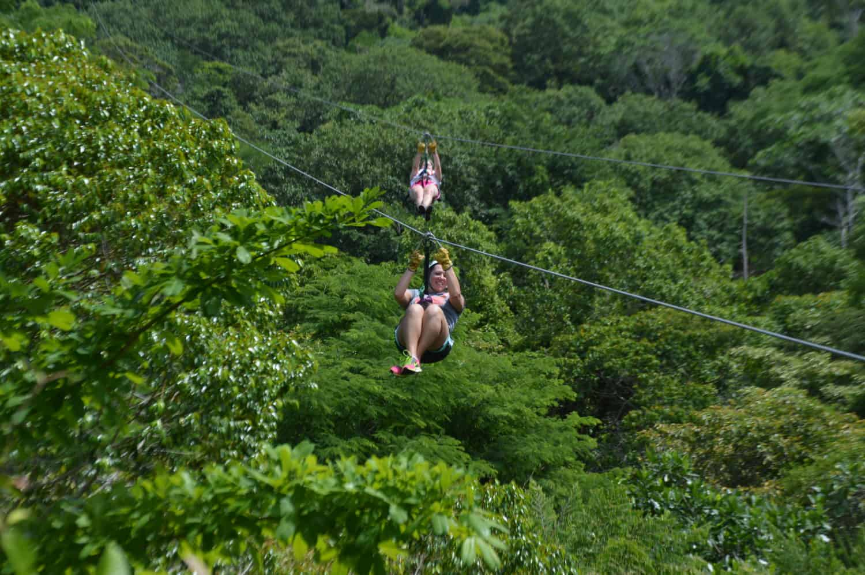 Racing down the longest dual-line zipline in Costa Rica