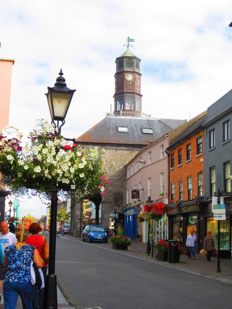 The main road in adorable medieval Kilkenny, Ireland