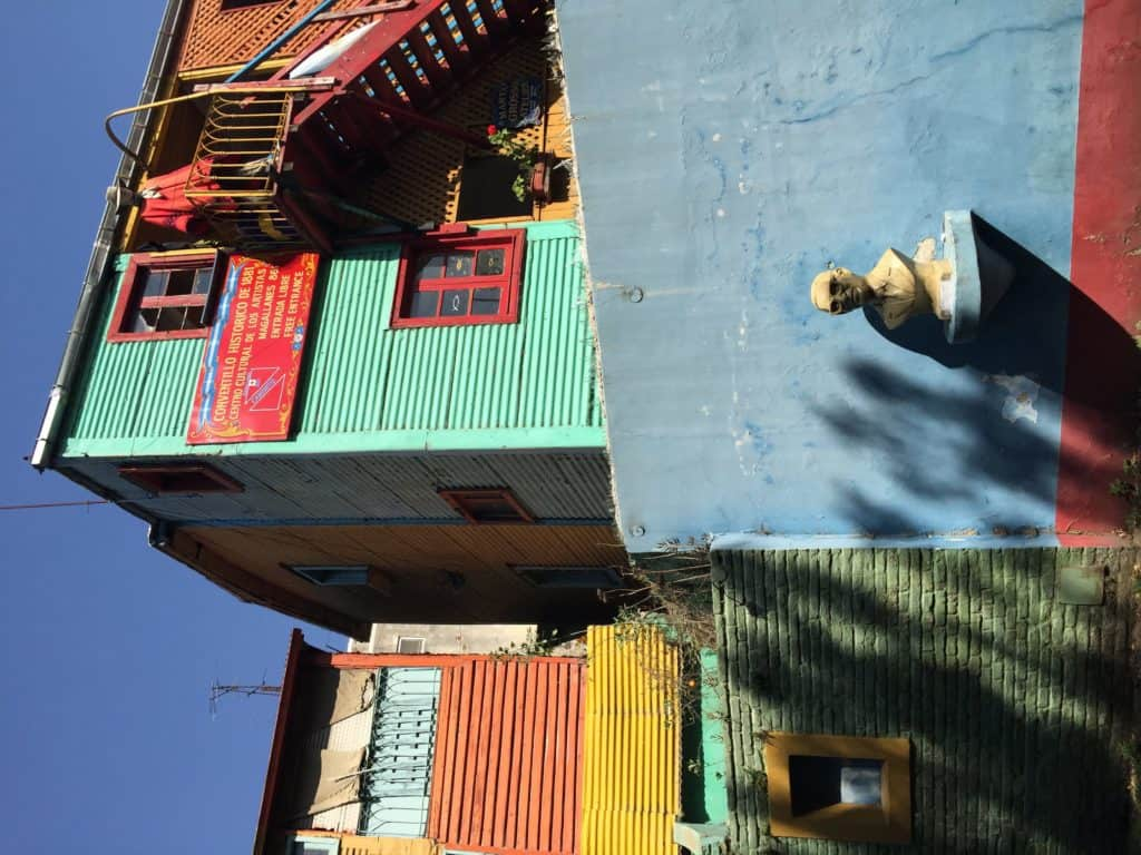 The brightly colored buildings of La Boca, tips on spending one day in Buenos Aires