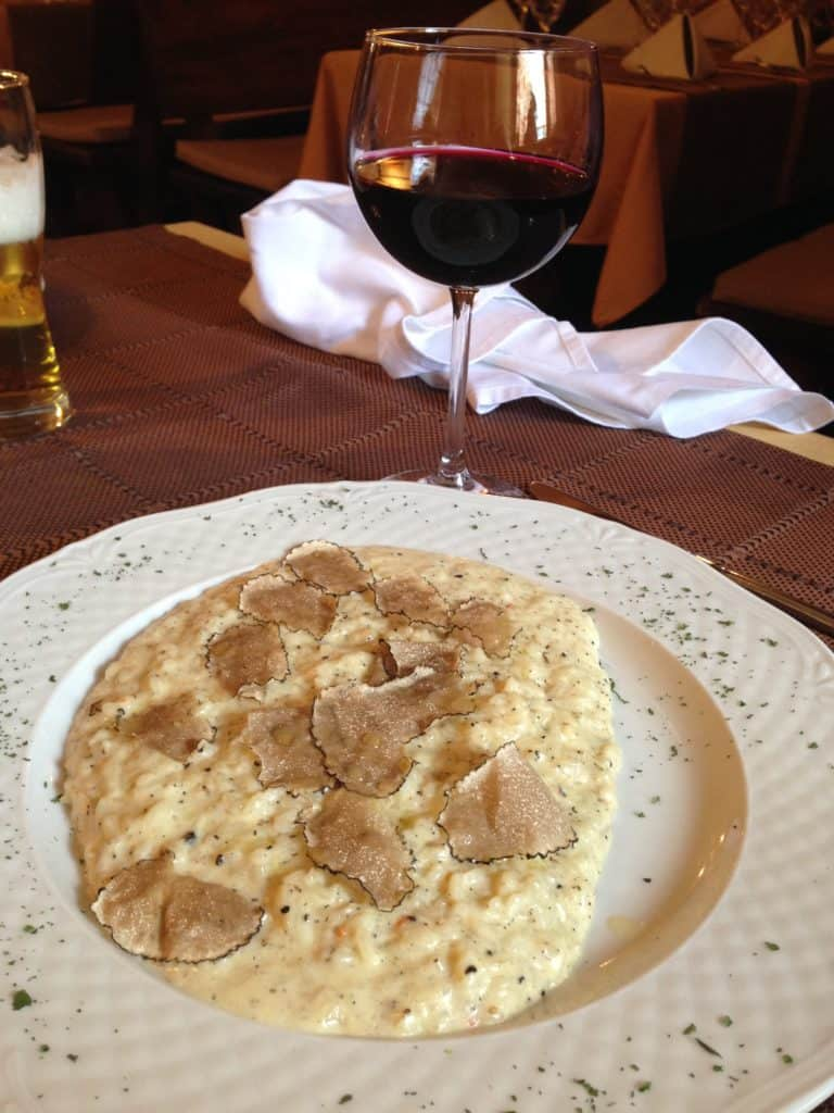 The truffles and local wine in Istria are to die for