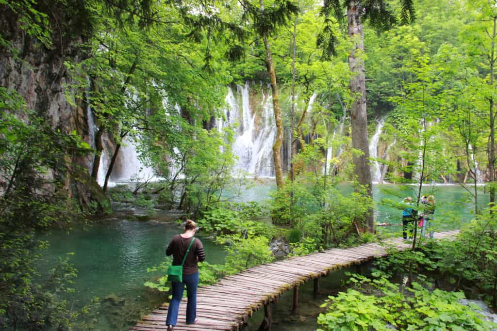 The walkways of Plitvice Lakes Croatia