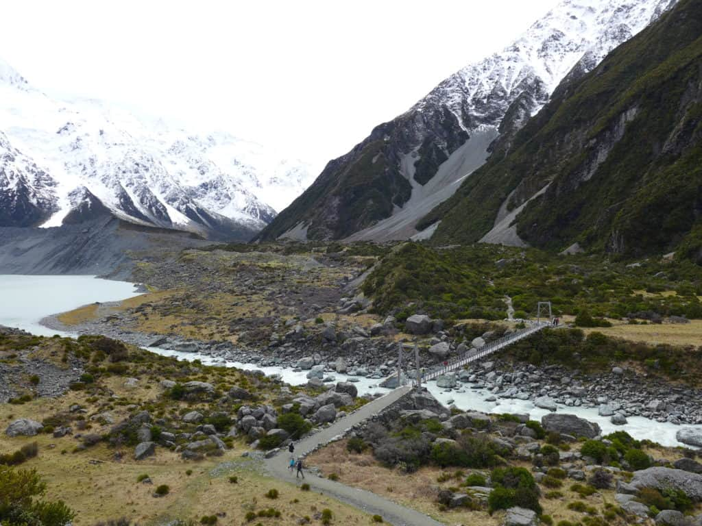 The Hooker Valley trek takes you alongside the Mueller Glacier on your way to the Hooker Valley Glacier