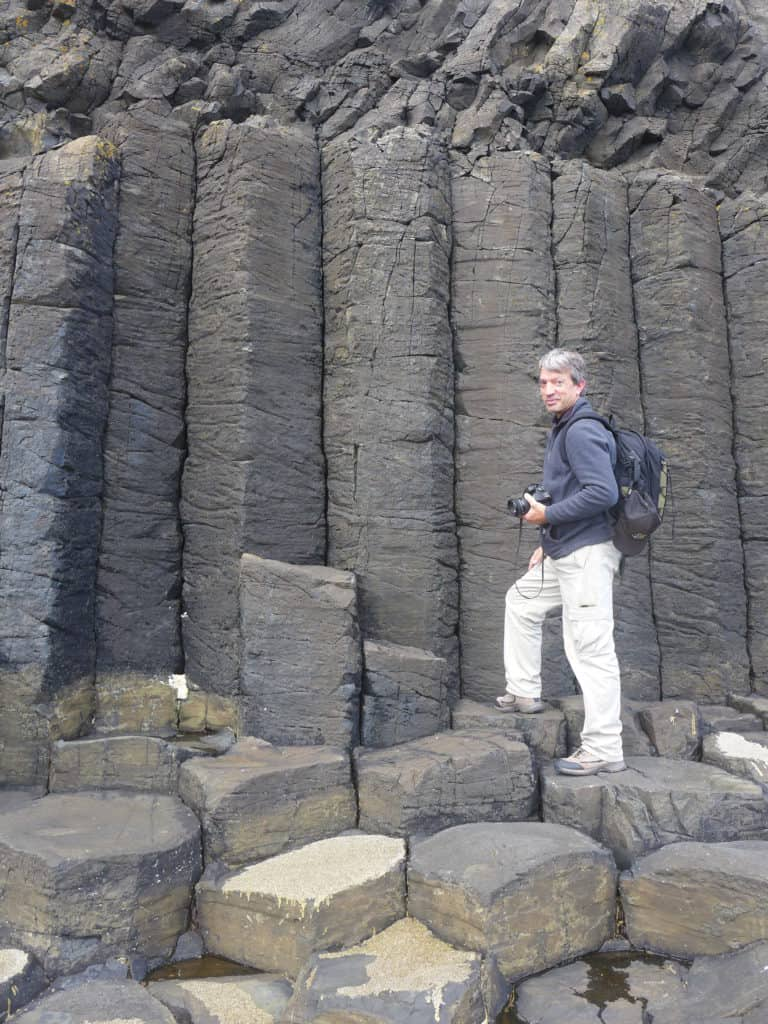 Rock formations on the Isle of Staffa
