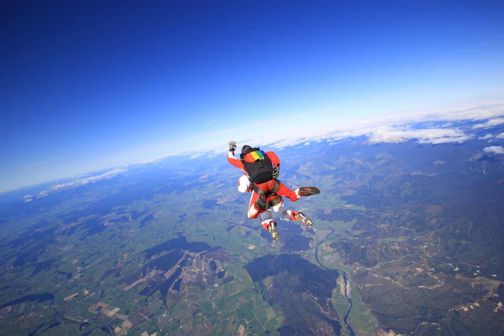 Skydiving in New Zealand's South Island, Motueka