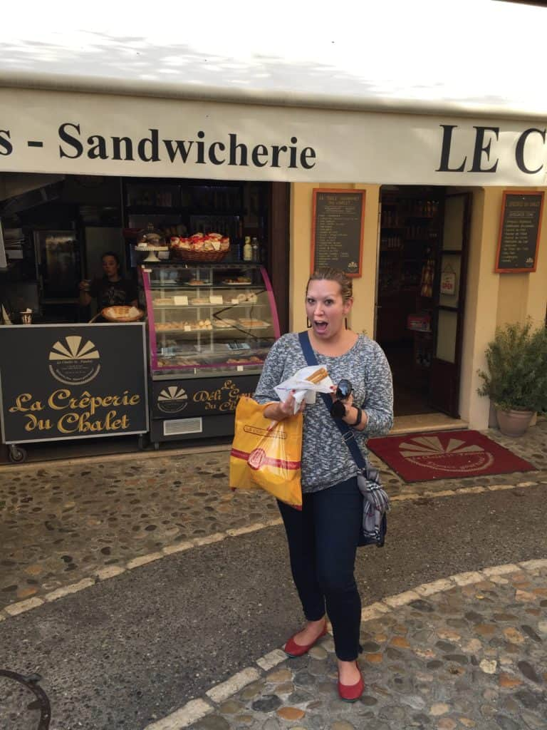 Finding pastries in St. Paul de Vence!