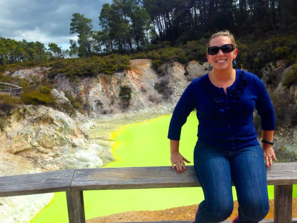 This is real life!  Neon hot springs in Rotorua New Zealand