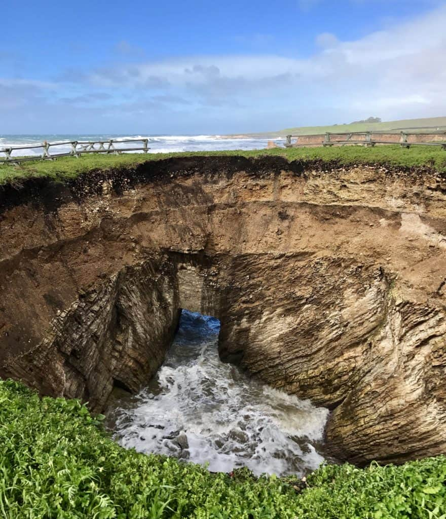 Sinkhole on the Point Buchon Trail, Montana de Oro State Park
