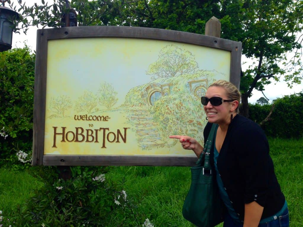 Welcome to Hobbiton sign!