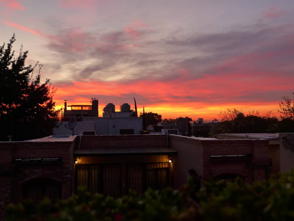 A gorgeous Mendoza sunset after a day in the Andes