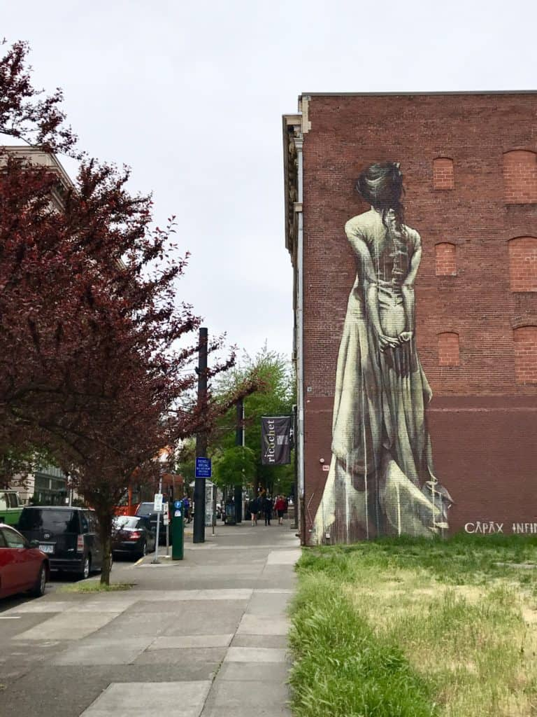 Portland's street art game is awesome...and the city is super walkable. Tips for visiting this awesome city.