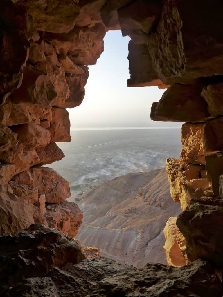 Sunrise at Masada, a must on a 7-day Israel and Jordan itinerary