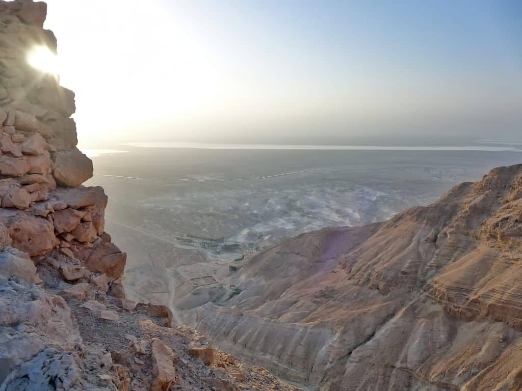 Masada has fascinating (and sad) history and stark, breathtaking views at sunrise...this site in Israel is a must for any itinerary