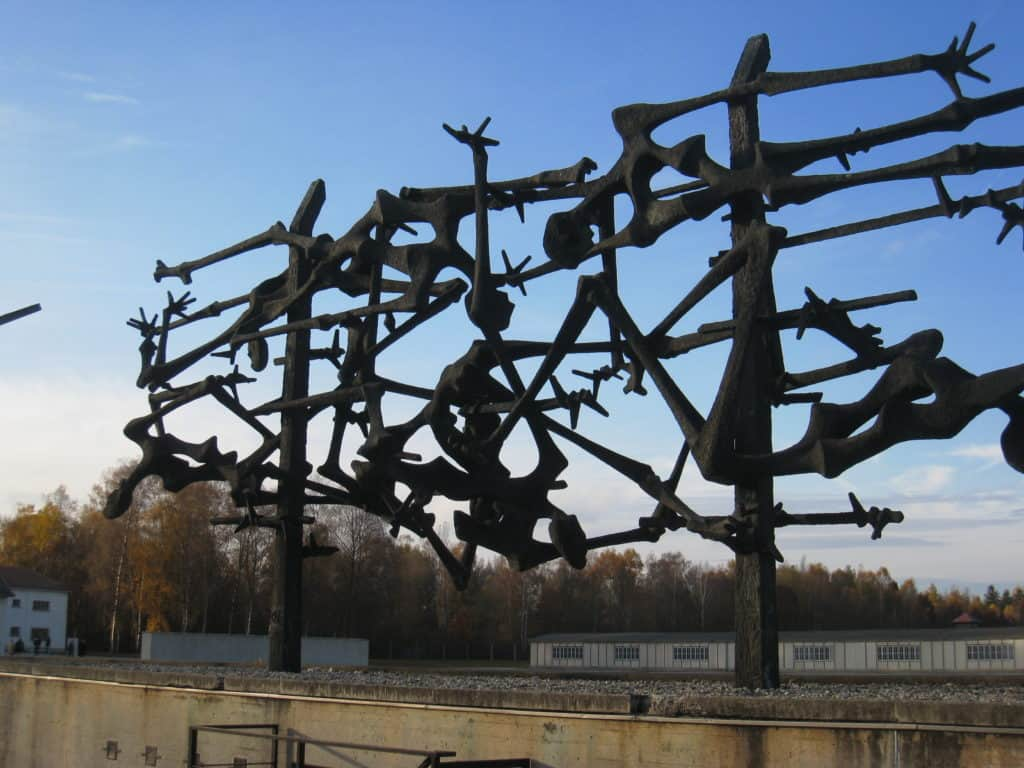 A very stark and sad memorial while visiting Dachau Concentration Camp