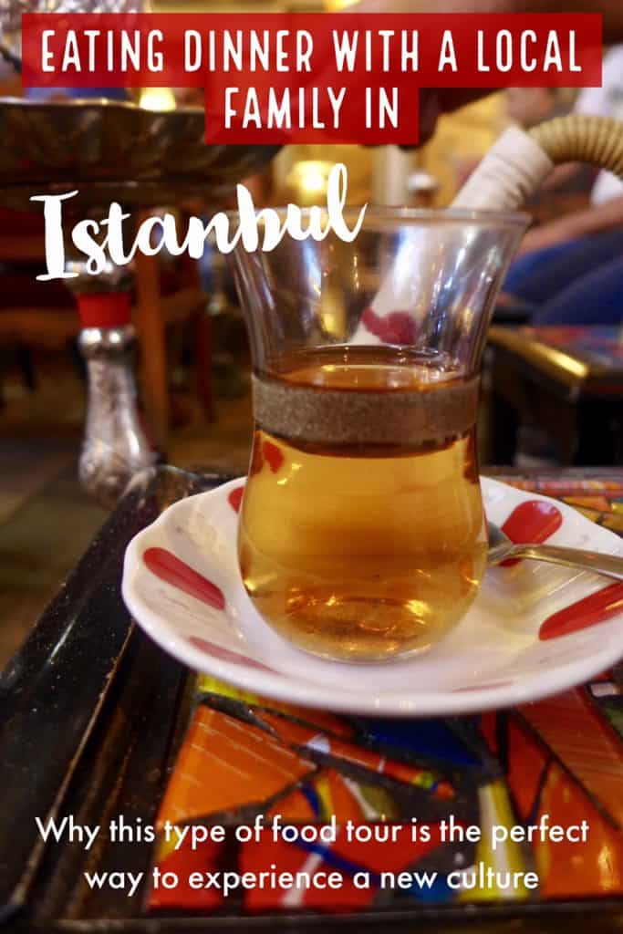A food tour in Istanbul, eating with a local Kurdish family | Why sharing a meal with a local family in Istanbul was a great welcome to Istanbul. About this unique food tour and why it's an amazing addition to your Turkish itinerary. #turkey #foodtour #istanbul
